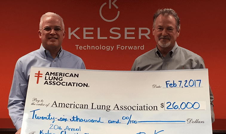 20th Annual Kelser and American Lung Association Charity Challenge Check Presentation