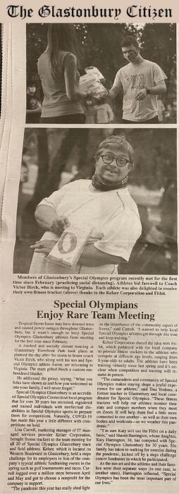 Kelser_Fitbit_Special Olympics CT_coverage in Glastonbury Citizen