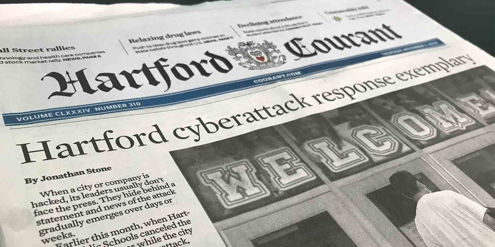 Hartford Nailed Cyber Resilience on the First Day of School