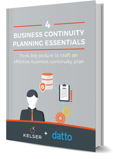 Kelser - 4 Business Continuity Planning Essentials ebook mockup