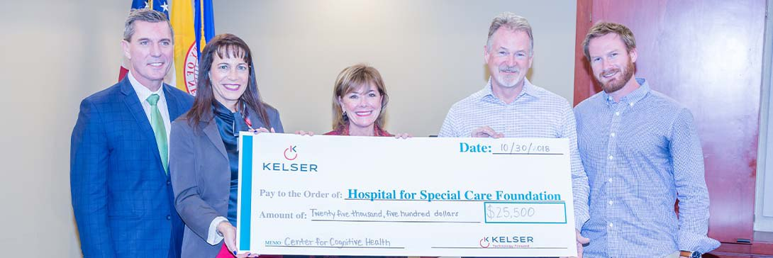 Press Release: Kelser Charity Challenge Raises $25,500 for Hospital For Special Care's Center for Cognitive Health